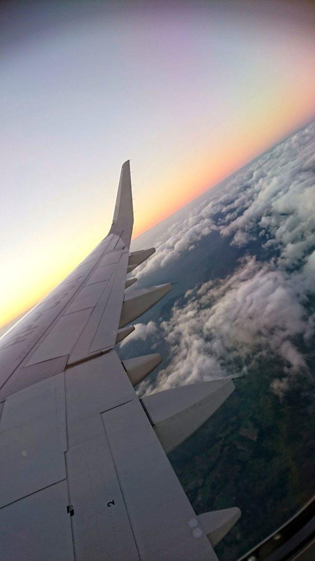 フィリピン空の上