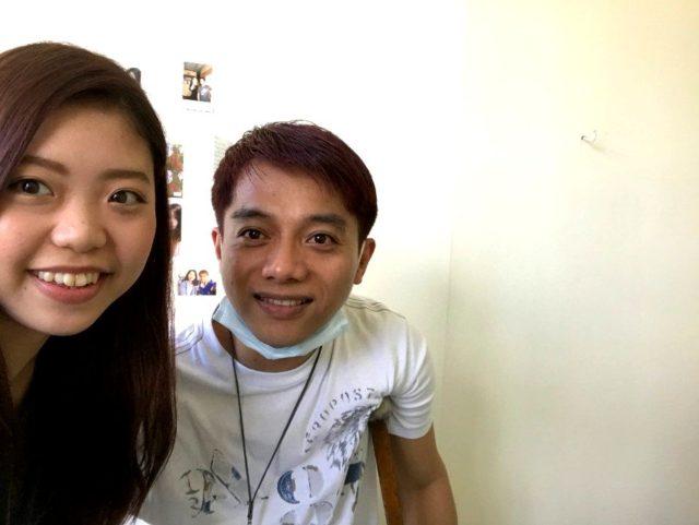 A&Jフィリピン人講師とツーショット